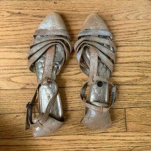 Anthropologie silver sandals